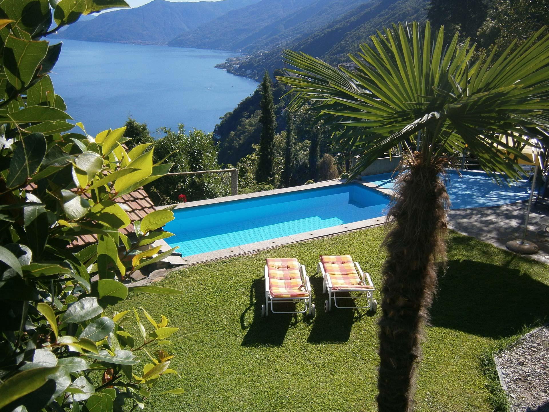 Pensione elisabetta piscina ronco sopra ascona ticino svizzera - Bagno pubblico ascona ...